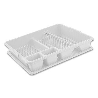 Obrázek produktu Plastový odkapávač na nádobí - bílý
