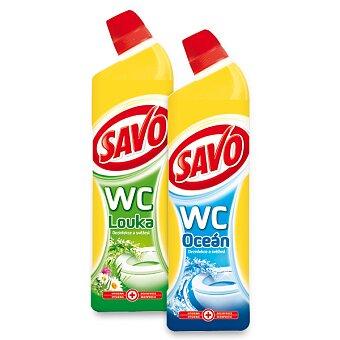 Obrázek produktu Prostředek na toalety Savo WC čistič - 750 ml, výběr vůní