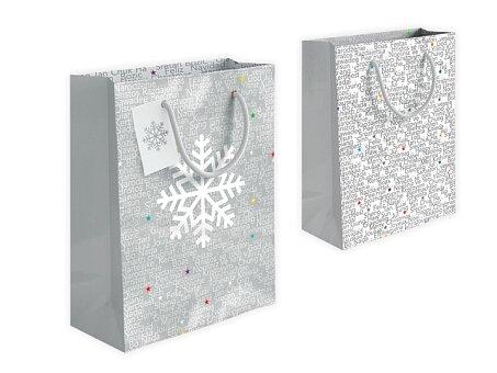 Obrázek produktu GLOSSY BAG I - Dárková papírová taška - sv. šedá