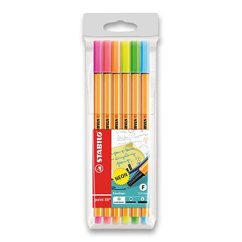 Obrázek produktu Liner Stabilo Point 88 - sada 6 neonových barev