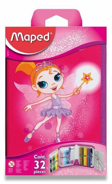 Penál Maped Tatoo 1patrový, vybavený, motiv Fairy