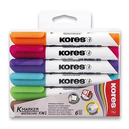Obrázek produktu Kores Whiteboard - popisovač na bílé tabule a flipcharty - 6 barev