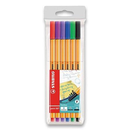 Obrázek produktu Stabilo Point 88 - liner - 6 barev