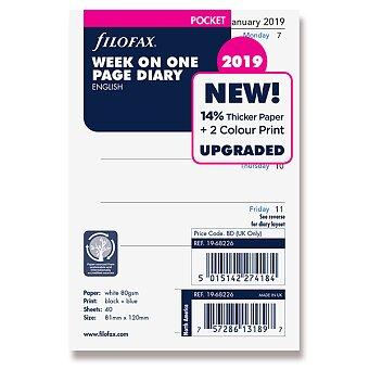 Obrázek produktu Týdenní kalendář 2019, Aj - náplň kapesních diářů Filofax