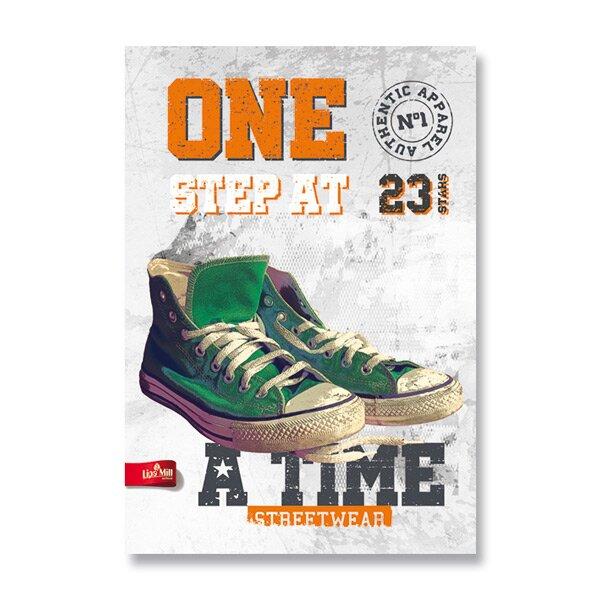 Školní sešit The Best Sneakers A4, linkovaný, 40 listů, mix motivů