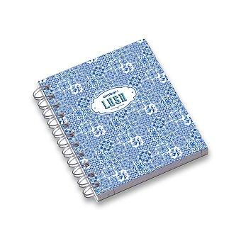 Obrázek produktu Kroužkový blok Ambar Lusa - A6, linkovaný, 120 listů, mix motivů