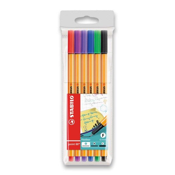 Liner Stabilo Point 88 sada 6 barev