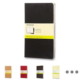 Obrázek produktu Sešity Moleskine Cahier - tvrdé desky - L, čistý, 3 ks, výběr barev