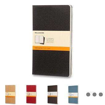Obrázek produktu Sešity Moleskine Cahier - tvrdé desky - L, linkovaný, 3 ks, výběr barev
