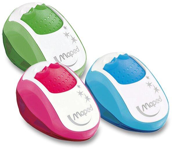 Ořezávátko Maped Clean - s odpadní nádobkou 2 otvory, mix barev