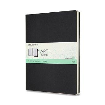 Obrázek produktu Hudební notes Moleskine - XL, 3 ks, černé