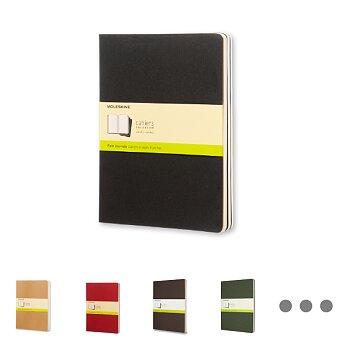 Obrázek produktu Sešity Moleskine Cahier - tvrdé desky - XL, čistý, 3 ks, výběr barev
