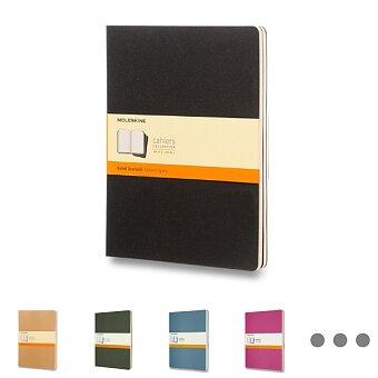 Obrázek produktu Sešity Moleskine Cahier - tvrdé desky - XL, linkovaný, 3 ks, výběr barev