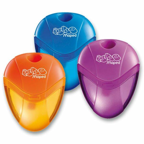 Ořezávátko Maped I-gloo - s odpadní nádobkou, pro leváky 1 otvor, blistr, mix barev