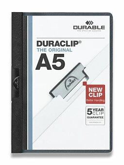 Obrázek produktu Plastový rychlovazač s klipem Durable Duraclip - A5, černý