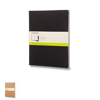 Obrázek produktu Sešity Moleskine Cahier - tvrdé desky - XXL, čistý, 3 ks, výběr barev