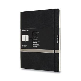 Obrázek produktu Zápisník Moleskine Professional - měkké desky - XL, černý, číslované strany