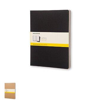 Obrázek produktu Sešity Moleskine Cahier - tvrdé desky - XXL, čtverečkovaný, 3ks, výběr barev