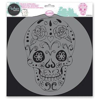 Obrázek produktu Plastová šablona AladinE - Lebka - 28 x 28 cm