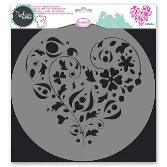 Obrázek produktu Plastová šablona AladinE - Srdce - 28 x 28 cm