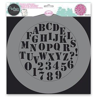 Obrázek produktu Plastová šablona AladinE - Abeceda - 28 x 28 cm