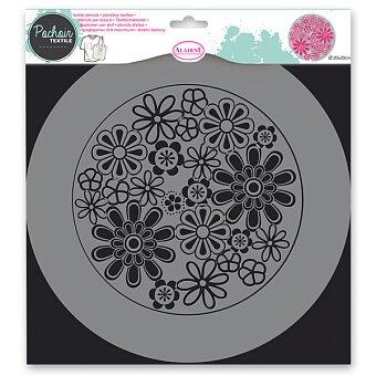 Obrázek produktu Plastová šablona Pochoir Textile - Kytičky - 28 x 28 cm