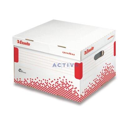 Obrázek produktu Esselte Speedbox - archivační kontejner s víkem - 355 × 193 × 252 mm, A4