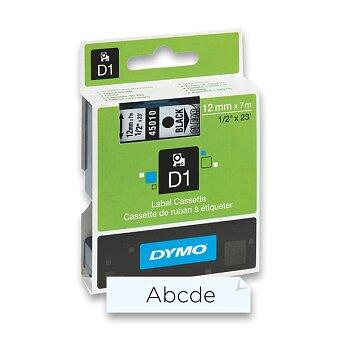 Obrázek produktu Polyesterová páska Dymo D1 - 12 mm x 7 m, černý tisk / transparentní páska