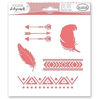 Obrázek produktu Plastová šablona AladinE - Etno - 15 x 15 cm