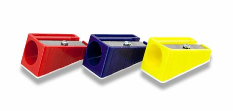 Obrázek produktu Ořezávátko KUM - na velké pastelky - 1 otvor, mix barev