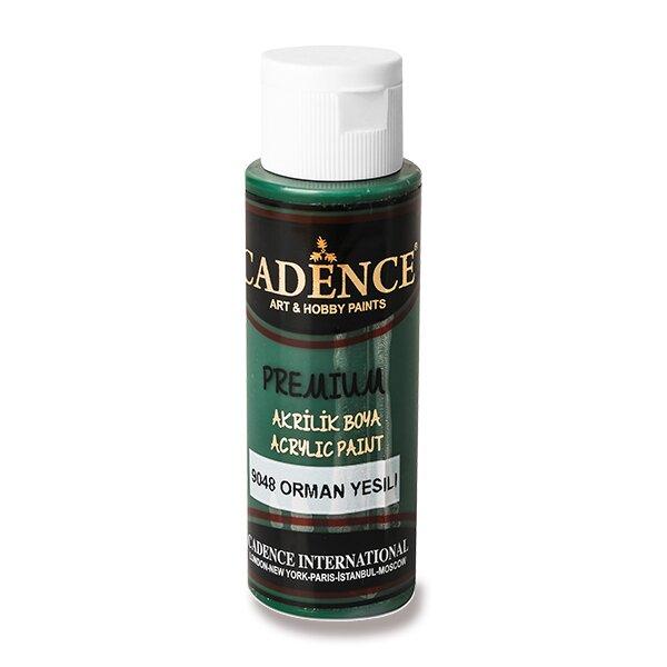 Akrylové barvy Cadence Premium tm. zelená