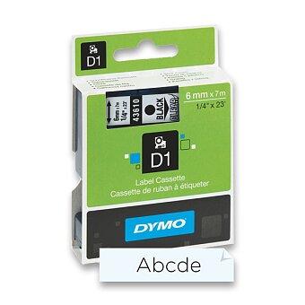 Obrázek produktu Polyesterová páska Dymo D1 - 6 mm x 7 m, černý tisk / transparentní páska
