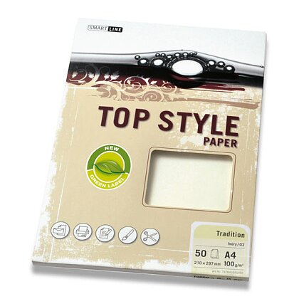 Obrázek produktu Top Style Paper Tradition - xerografický papír - A4, 100 g, 50 archů, slon. kost