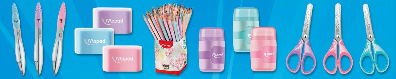 Školní potřeby Maped v oblíbených pastelových tónech