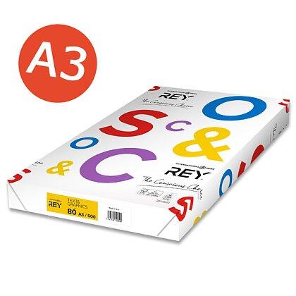 Obrázek produktu Rey Text & Graphics - xerografický papír - A3, 80 g, 500 listů