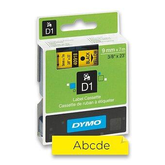 Obrázek produktu Polyesterová páska Dymo D1 - 9 mm x 7 m, černý tisk / žlutá páska