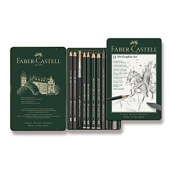 Obrázek produktu Grafitové tužky Faber-Castell Pitt Monochrome Graphite - sada 11 ks