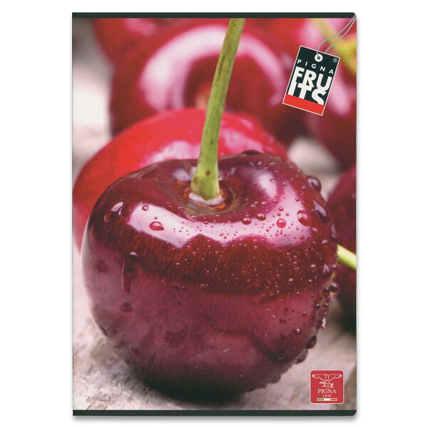 Školní sešit Pigna Fruits A4, čtverečkovaný, 40 listů, mix motivů