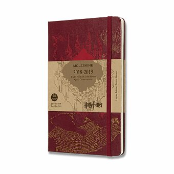 Obrázek produktu 18měsíční diář Moleskine 2018-2019 Harry Potter - tvrdé desky - L, týdenní, červený