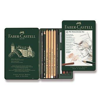 Obrázek produktu Grafitová tužka Faber-Castell Pitt Monochrome - sada 12 kusů