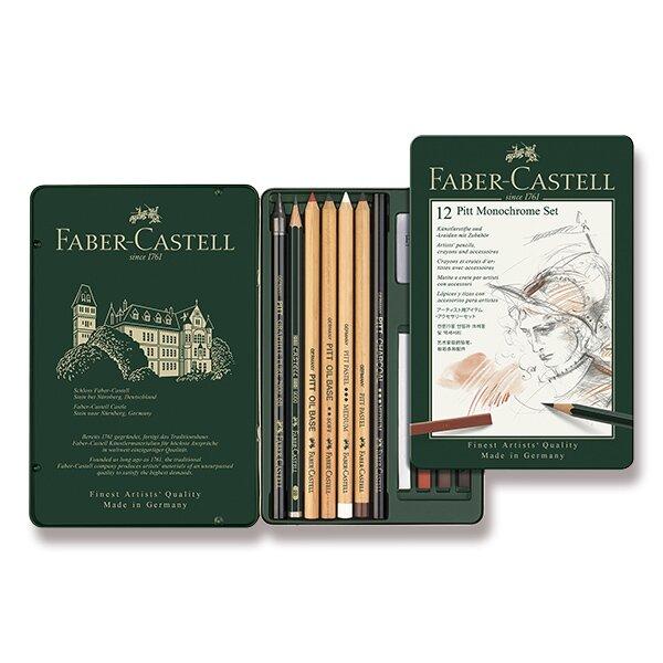 Grafitová tužka Faber-Castell Pitt Monochrome sada 12 kusů