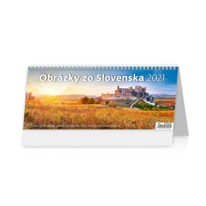 Obrázok produktu Obrázky zo Slovenska 2021 - stolový obrázkový kalendár - 321 x 134 mm, 60 + 2 strán