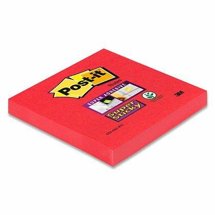Obrázok produktu 3M Post-it 654 Super Sticky - silne lepiaci bloček - 76 x 76 mm, 90 l., ružovočervený