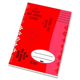 Obrázek produktu Sešit recyklovaný 544 Papírny Brno - A5, 40 listů, linkovaný