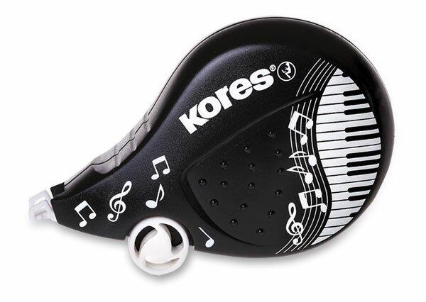 Korekční strojek Kores Scooter Black White 4,2 mm x 8 m, mix motivů