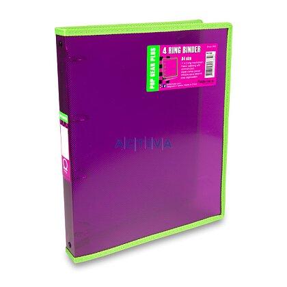 Obrázek produktu Foldermate Popgear Plus - 4kroužkový pořadač - A4, fialový
