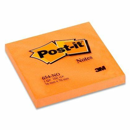 Obrázok produktu 3M Post-it 654PO - samolepiaci bloček - 76 x 76 mm, 100 l., oranžový