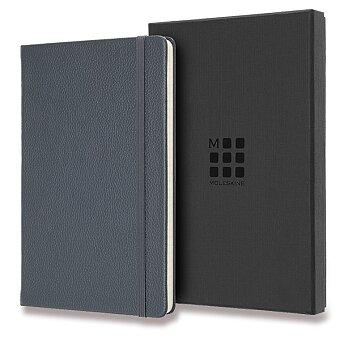Obrázek produktu Zápisník Moleskine kožený - L, linkovaný, tm.modrý