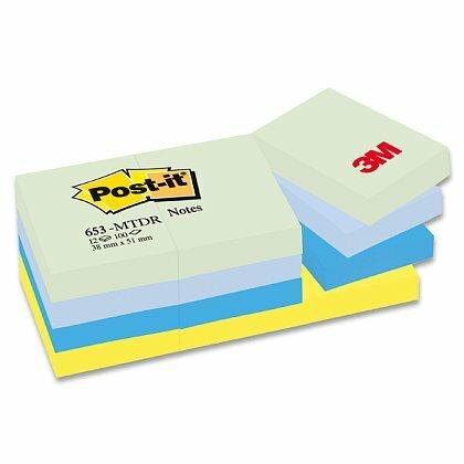 Obrázok produktu 3M Post-it 653 Pastel - samolepiaci bloček - 38 × 51 mm, Mint