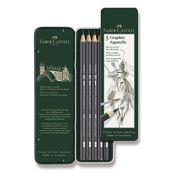 Obrázek produktu Akvarelová grafitová tužka Faber-Castell Art Aquarelle - 5 ks, plechová krabička